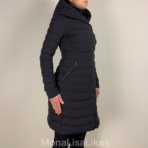 New MONCLER Barge Long Quilted Down Puffer Coat